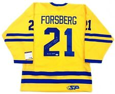 PETER FORSBERG SIGNED TEAM SWEDEN OLYMPIC GOLD AUTHENTIC YELLOW JERSEY PSA COA