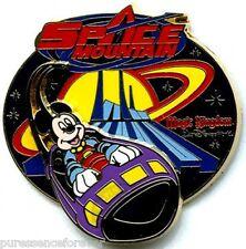 WDW Space Mountain: Mickey Riding in Rocket Logo Pin