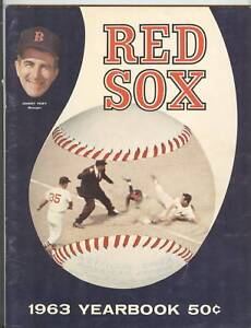 1963 Boston Red Sox Yearbook Carl Yastrzemski /Ted Williams/Pesky Fenway Park PK
