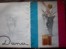 1961  Vintage DANA 20 Carats Perfume Casts a Spell Two Page Ad