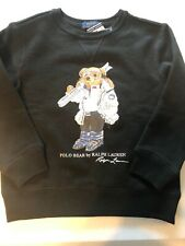 Polo Ralph Lauren Boy's size 6 Sweatshirt Bear Ski Black Logo Crewneck Pullover