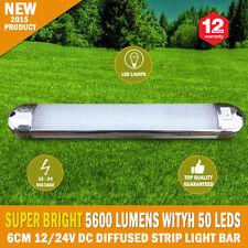 NEW 26cm 12/24V DC Diffused 100 LED Strip Light Bar For Camping Caravan Boat