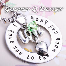 Personalised Hand Stamped Any Words Necklace Christmas Gift For Her D141