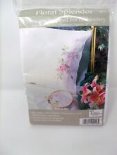 """Tobin Stamped Pillowcases FLORAL SPENDOR for Embroidery 20"""" x 30"""" 1 Pair"""
