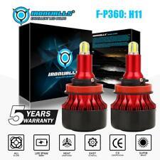 H11 4-Sides 360° COB LED Headlight Bulbs Kits for 2007-2015 Chevy Silverado 1500