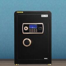 Digital Safe Box Large Electronic Keypad Lock Home Office W/ Emergency Key Black