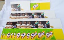 (50) Vintage Ski Soda Pop Drink Display Advertising Sign Sticker Lot