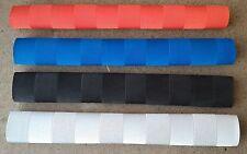4x CHEVRON Cricket Bat Grips - WHITE, RED, BLUE & BLACK