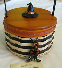 LONGABERGER Halloween 2013 BASKET Wicked WITCH Liner BOOTS TIE ON Lid PROTECTOR