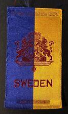 Vintage c1910 Sweden Coat of Arms Factory #30 2nd District Va Cigarette Silk
