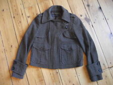 Zara Check Button Cropped Coats & Jackets for Women