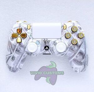 Custom PS4 Controller Cash Money Bullet Mod PlayStation 4 Dualshock V2 Gamepad