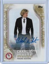 2018 TOPPS OLYMPICS CHARLIE WHITE FIGURE SKATING GOLD AUTOGRAPH AUTO CARD  24/25