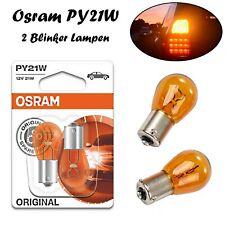 Osram PY21W 12V 7507-02B Orange Blinker Original Halogen Ersatz Auto Kugellampen