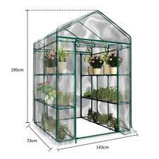PVC 3-Tier Portable Greenhouse 6 Shelves PE Cover Plant Garden Green House Cover