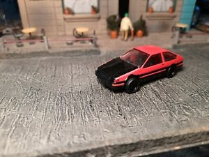 Yujin Initial D Toyota Corolla AE86 (Red/Black) 1/72 BIN
