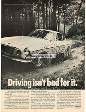 1968 Volvo White 1800S driving through mud Vtg Print Ad