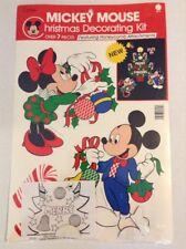 Mickey Mouse Paper Christmas Decorating Kit Eureka NOS Disney