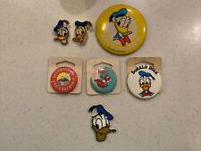 Vintage 1980s 1990s Donald Duck Walt Disney World Pins Lot Of 6 Plus Magnet