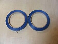 2 rollos de Azul Mochila Selladora CINTA PARA CUELLO máquinas (9mm x 66m) -