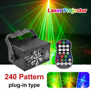 240 Pattern Laser LED RGB Projector Stage Light  DJ Disco Party KTV Club Lights