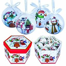 14 Christmas Cute Baubles Fun Festive Tree Decor Hanging Snowman Gift Party Xmas