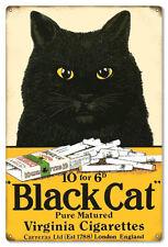 Black Cat Cigarette Reproduction Large Cigar Metal Sign 16x24
