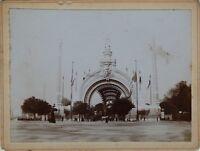 Porta Monumentale Esposizione Universale Parigi 1900 Francia Foto Vintage