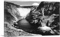 Hoover Dam Boulder Dam Across Colorado River Nevada Canvas Art Print Ansel Adams
