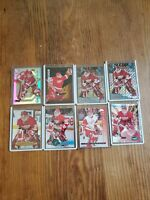 8 Card Lot CHRIS OSGOOD Multiple brands, 1995-96, inserts and base RED WINGS