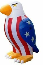 8 Ft Patriotic Uncle Sams American Bald Eagle Air blown Inflatable Yard Decor