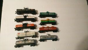 Tyco AHM etc HO Train Lot of 9 Rolling Stock Tanker Cars RTR