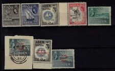 BRITISH COLONY ADEN STAMPS, 8 MNH++1 USED