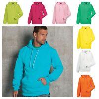 Mens Russell Hooded Sweatshirt TOP HOODIE POCKET MEN'S XS-2XL PLAIN LADIES Size