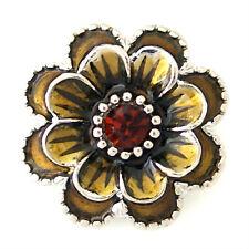 Button Click Druckknopf Kristall Blume K8778 - kompatibel mit Chunk Armband