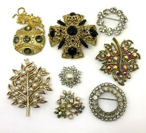 Vintage (8) Pieces Repair Harvest Craft Lot Pin Brooch Includes 1 Trifari