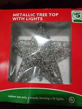 TREE TOPPER WHITH LIGHTS INDOOR USE ONLY .STEADY BURNING. 10LIGHTS estrella