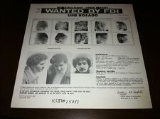 PUERTO RICAN TERRORIST/FALN LUIS ROSADO FBI WANTED POSTER *PLS MAKE BEST OFFER*