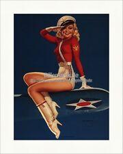 Aye Aye capitano Earl Mac Pherson Militare Navy USA ala stampa d'arte PIN UP 085