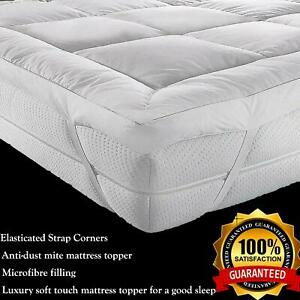 Premium Microfibre Luxury Soft Hotel Quality Mattress Topper 5cm Deep Pad Mat