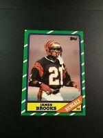 1986 Topps # 256 JAMES BROOKS Cincinnati Bengals Nice Card !