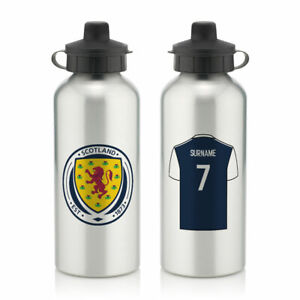 PERSONALISED Scotland Football Gifts - Aluminium Water Bottle - Official