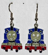 THOMAS the TANK BLUE Train Earrings Surgical Steel New PBS Classic
