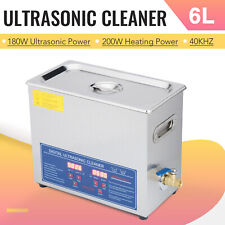 Preenex 6L Ultrasonic Cleaner Stainless Steel Industry Heated Heater w/Timer