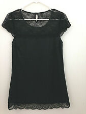 Intimissimi Womens XS/Small Black Nightgown Shoulder Lace