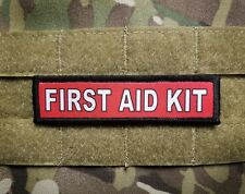 FIRST AID KIT Red 1x4 Tactical Hook Military Morale Patch DIY IFAK Kit Marker