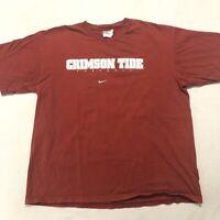 Vintage Nike Alabama Crimson Football Tide T Shirt White Tag Red Tee Large SEC