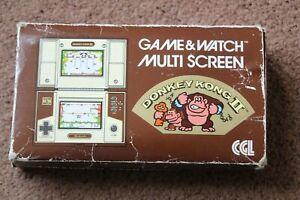GENUINE ORIGINAL NINTENDO GAME & WATCH DONKEY KONG 2 BOX