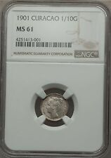 1901 Curacao 1/10 Gulden, NGC MS 61