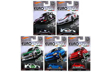 HOT WHEELS SET OF 5 CARS EURO STYLE ASSORTMENT 1/64 DIECAST CAR DJF77-956B